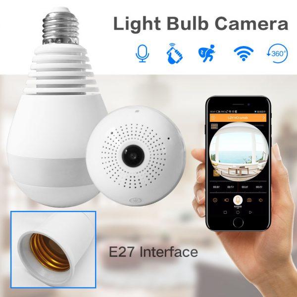 IP Wirelss Panoramic Bulb Camera