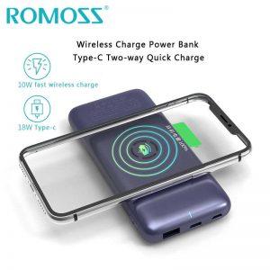 Romoss Wsl10 Wireless Power Bank 10000mah